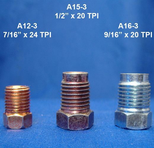 Brake Line Sizes : Identifying american thread brake nuts